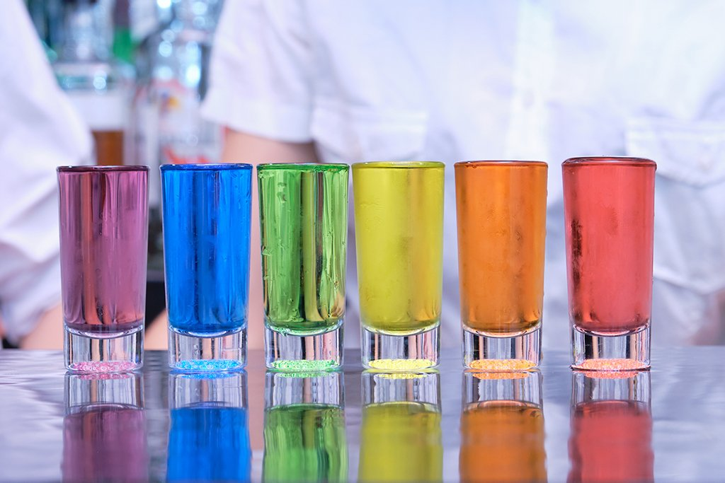 Color Shot Glasses